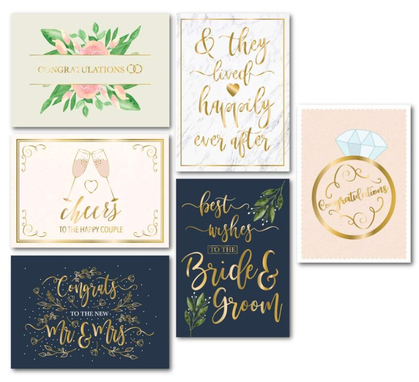 what to write in a wedding card  2021 guide  weddingstats